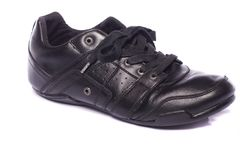 svarta male skor Royaltyfri Bild