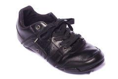 svarta male skor Royaltyfri Fotografi