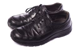 svarta male skor Royaltyfria Foton