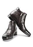 svarta male skor Royaltyfri Foto