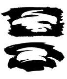 Svarta målarfärgslaglängdramar Royaltyfri Foto