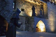 Svarta munkar i Tallinn royaltyfria foton