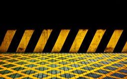 Svarta och gula linjer Arkivbild
