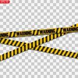 Svarta och gula varningslinjer royaltyfri illustrationer