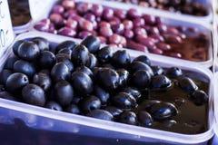 Svarta Olive Healthy Food Royaltyfri Bild