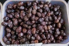 Svarta Olive Healthy Food Arkivfoto