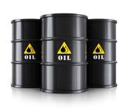 Svarta olje- trummor stock illustrationer