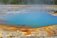 Svarta Opal Pool Yellowstone National Park Arkivbild