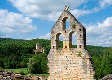 Svarta Périgord slottar i Frankrike Arkivfoto