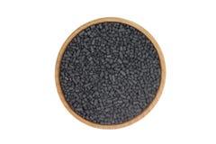 Svarta partiklar av aktiverat kol Royaltyfri Bild