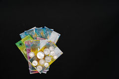 svarta pengar för bakgrund Royaltyfri Foto