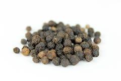 svarta peppercorns Arkivbild