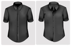 svarta poloskjortor Arkivbilder
