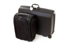 svarta resväskor två Arkivfoton