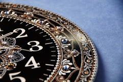 Svarta runda handgjorda klockor Royaltyfri Foto