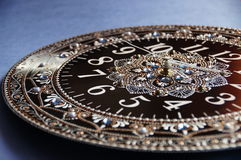 Svarta runda handgjorda klockor Royaltyfri Bild