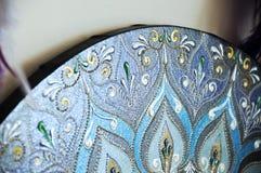 Svarta runda handgjorda mandalaklockor Royaltyfria Bilder