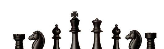 svarta schackdiagram Royaltyfri Foto