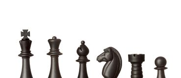 svarta schackdiagram Royaltyfria Foton