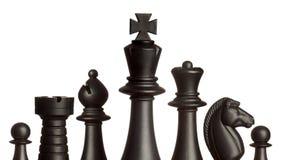 svarta schackdiagram Royaltyfria Bilder