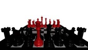 svarta schackstycken Royaltyfria Bilder