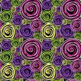 svarta seamless swirls vektor illustrationer
