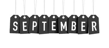 Svarta september etiketter Arkivbild