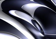 svarta silverspheres Arkivbilder