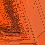 Svarta skarpa trianglar Arkivfoto