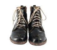 svarta skor Arkivfoton