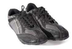 svarta skor Arkivbild