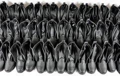 svarta skor Fotografering för Bildbyråer