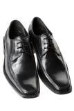 svarta skor för klänningmän s Royaltyfria Bilder