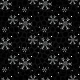 svarta snowflakes för bakgrund seamless bakgrundsjul vektor illustrationer