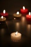 svarta stearinljus för bakgrund Fotografering för Bildbyråer
