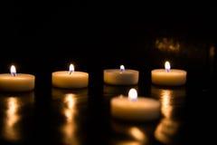 svarta stearinljus för bakgrund Arkivbild