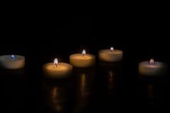 svarta stearinljus för bakgrund Royaltyfri Fotografi