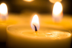 svarta stearinljus för bakgrund Royaltyfri Foto