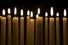 svarta stearinljus för bakgrund flera Royaltyfri Fotografi