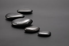 svarta stenar Royaltyfria Bilder
