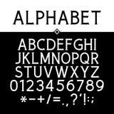 Svarta strikta Serif Font Royaltyfri Fotografi