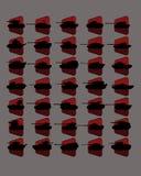 Svarta symboler av behållare Arkivfoto