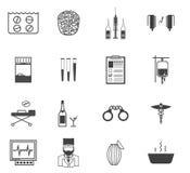 Svarta symboler för psykiaterexperten in Royaltyfri Fotografi