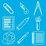 Svarta symboler för skolagodskrita Del 2 Arkivbild