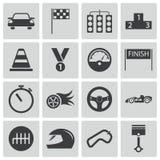 Svarta tävlings- symboler för vektor Royaltyfri Foto