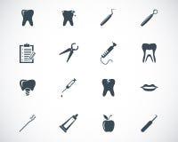 Svarta tand- symboler för vektor royaltyfri illustrationer