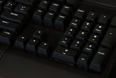 Svarta tangentbord, teknologi tangenter arkivfoto