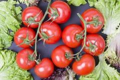 svarta tomater för bakgrund dietary mat svarta morotgrönsaker för bakgrund Tomater på tabellen Royaltyfri Fotografi