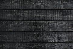 Svarta träplankor Royaltyfri Bild