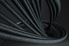 Svarta trådkablar framförande 3d Arkivbild